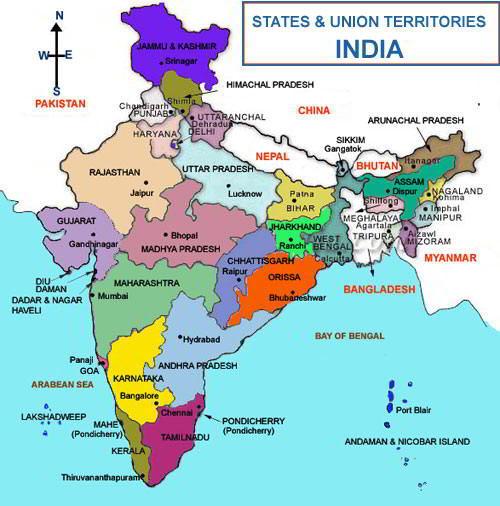 भारत के राज्य | भारतीय राज्यों के नाम उनके अर्थ सहित | States Of India