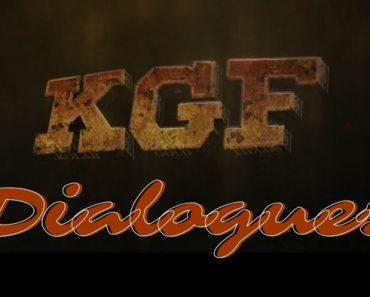 केजीएफ डायलॉग | KGF Movie Dialogue In Hindi | KGF Dialogue Writer